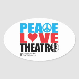 平和愛劇場 楕円形シール