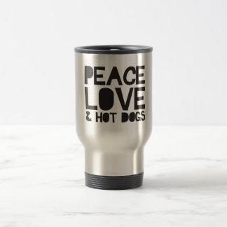 平和愛及びホットドッグ トラベルマグ