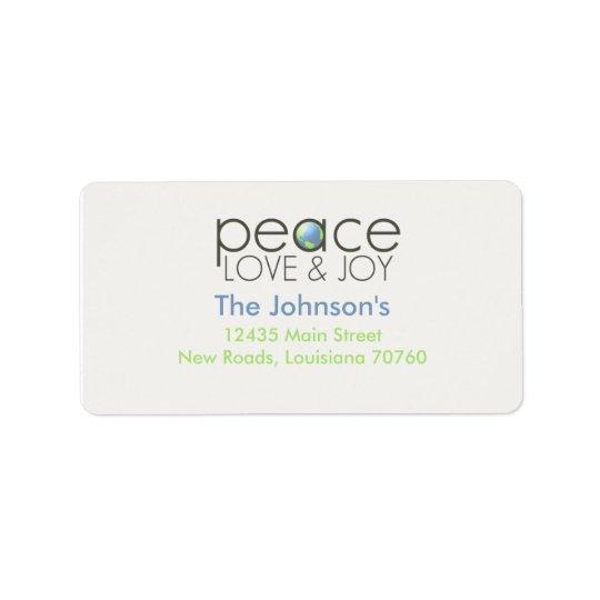 平和愛及び喜び 宛名ラベル