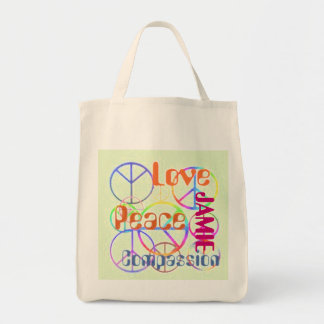平和愛同情のトート トートバッグ