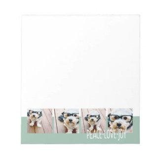 平和愛喜びの写真のコラージュの休日の挨拶 ノートパッド