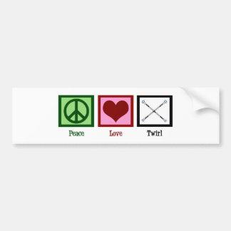 平和愛回転 バンパーステッカー