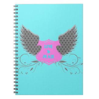 平和愛天使の翼のデザイン ノートブック