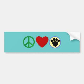平和愛子犬の足のTシャツ、ギフト バンパーステッカー