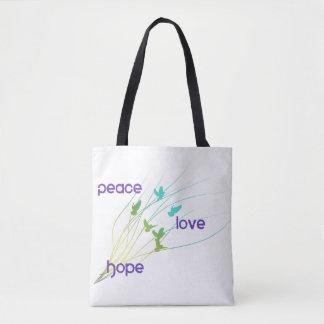 平和愛希望のトートバック トートバッグ