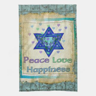 平和愛幸福 キッチンタオル