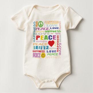 平和愛幸福 ベビーボディスーツ