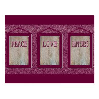 平和愛幸福 ポストカード