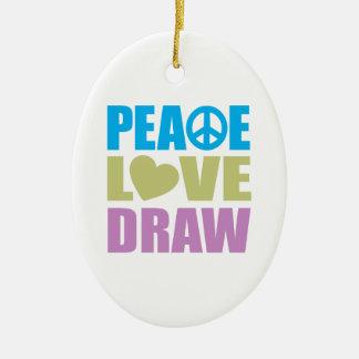 平和愛引くこと セラミックオーナメント
