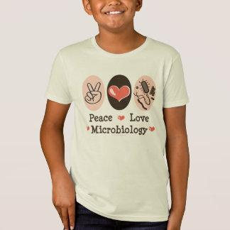 平和愛微生物学はオーガニックなティーをからかいます Tシャツ