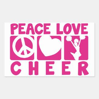 平和愛応援 長方形シール