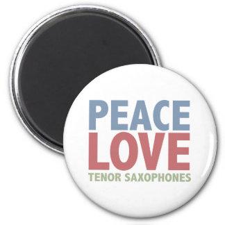 平和愛方針のサクソフォーン マグネット