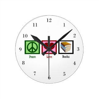 平和愛本 ラウンド壁時計