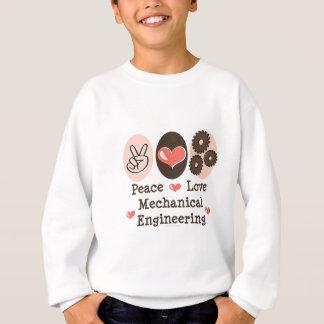 平和愛機械工学者はスエットシャツをからかいます スウェットシャツ