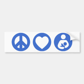 平和愛母乳で育てること バンパーステッカー