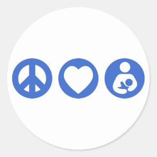 平和愛母乳で育てること ラウンドシール