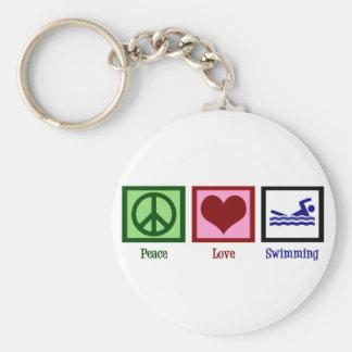 平和愛水泳 キーホルダー