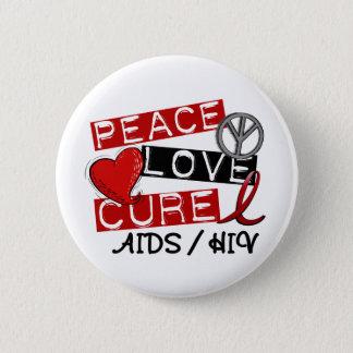 平和愛治療のエイズHIV 5.7CM 丸型バッジ