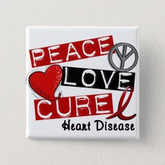 平和愛治療の心臓病 5.1CM 正方形バッジ