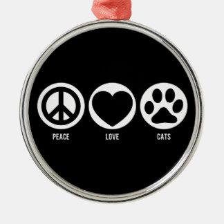 平和愛猫のオーナメント メタルオーナメント