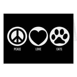 平和愛猫のメッセージカード カード