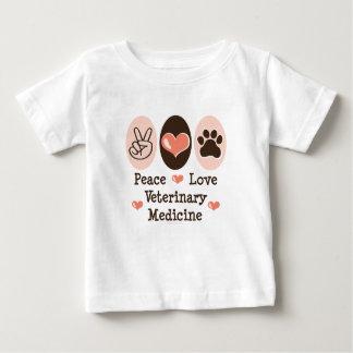 平和愛獣医学のベビーのTシャツ ベビーTシャツ