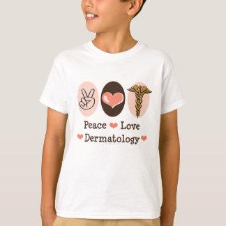 平和愛皮膚科学のDermatologistの子供のTシャツ Tシャツ