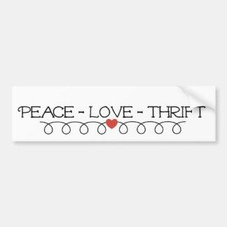 平和愛節約のSquiggleのバンパーステッカー バンパーステッカー