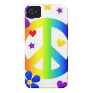 平和愛絞り染めのヒッピーの記号 Case-Mate iPhone 4 ケース