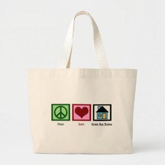 平和愛緑箱の家 ラージトートバッグ
