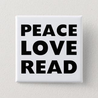 平和愛読書 5.1CM 正方形バッジ