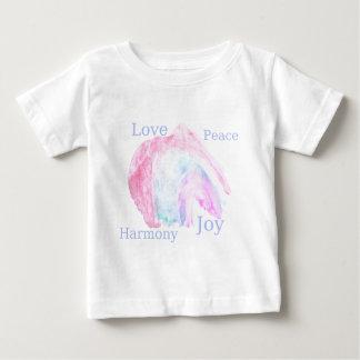 平和愛調和の喜び ベビーTシャツ