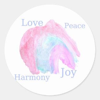 平和愛調和の喜び ラウンドシール