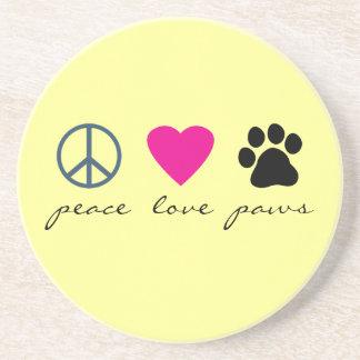平和愛足 コースター