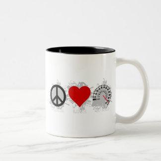 平和愛速度の紋章2 ツートーンマグカップ