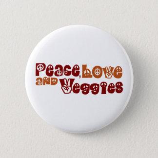 平和愛野菜 5.7CM 丸型バッジ