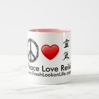 平和愛霊気のマグ ツートーンマグカップ