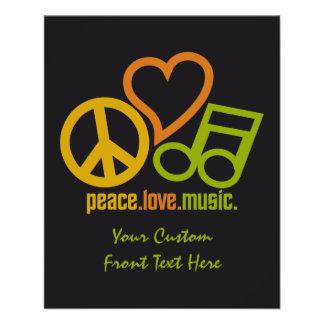 平和愛音楽カスタムのフライヤ チラシ