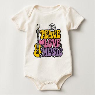 平和愛音楽 ベビーボディスーツ