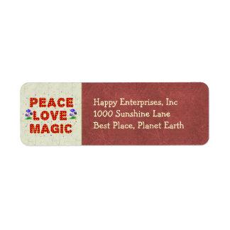 平和愛魔法 ラベル
