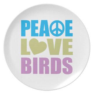 平和愛鳥 プレート