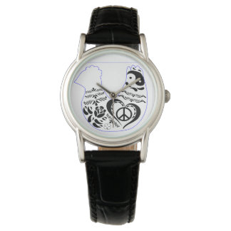 平和愛鶏 腕時計