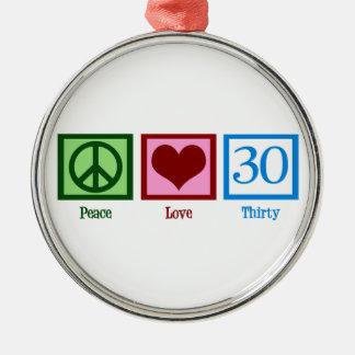 平和愛30誕生日 メタルオーナメント
