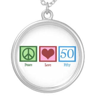 平和愛50 シルバープレートネックレス