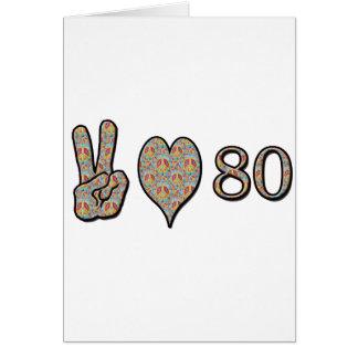 平和愛80 グリーティングカード