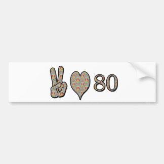 平和愛80 バンパーステッカー
