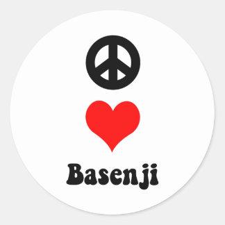 平和愛Basenji ラウンドシール