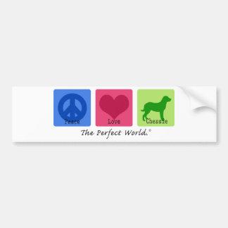 平和愛Chessie バンパーステッカー