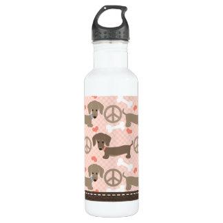 平和愛DoxiesのダックスフントBPAは放します ウォーターボトル