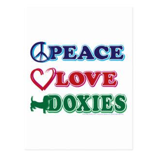 平和愛DoxiesのDachsund ポストカード